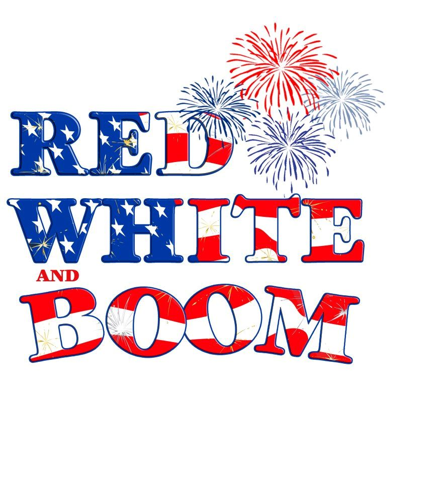 Red White and Boom graphic