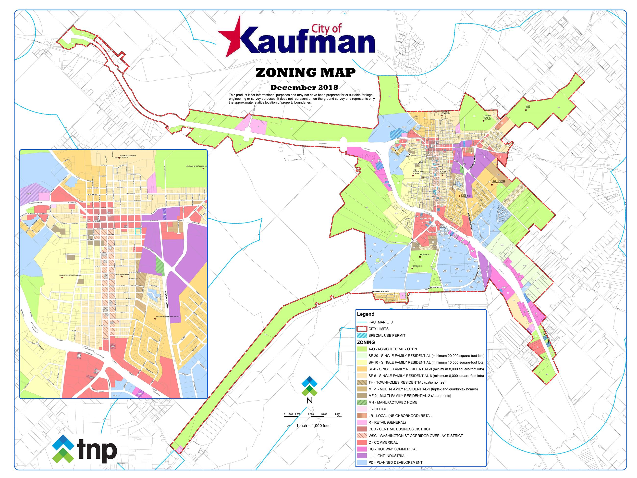 Zoning Map 2019-01-09 Kaufman